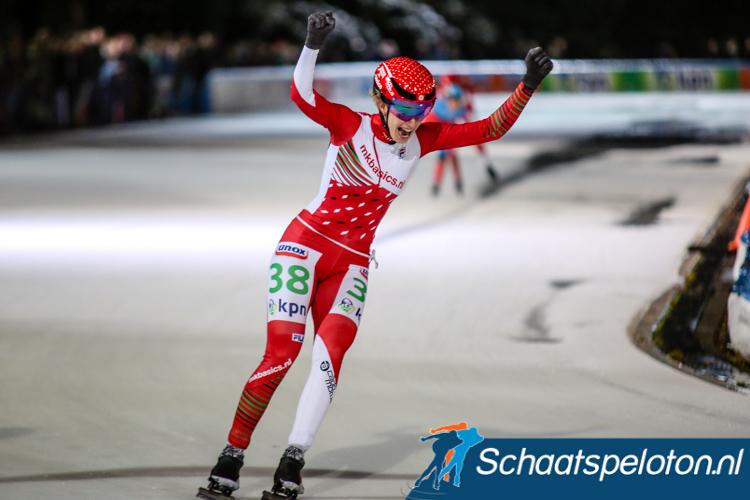Lisa van der Geest wint de eerste wedstrijd in de KPN Marathon Cup.