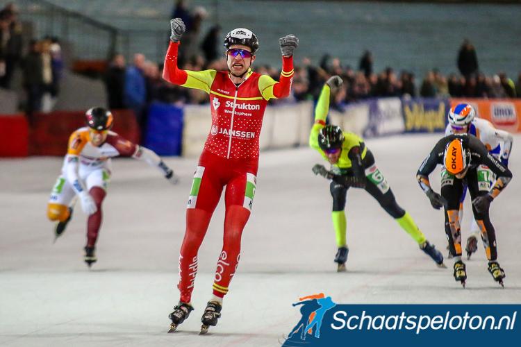 Bart de Vries won zaterdag nog de marathon in Den Haag.
