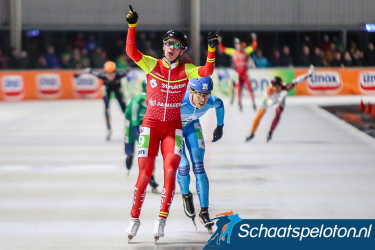 Bart Swings klopt Jorrit Bergsma en wint de marathon in Breda.