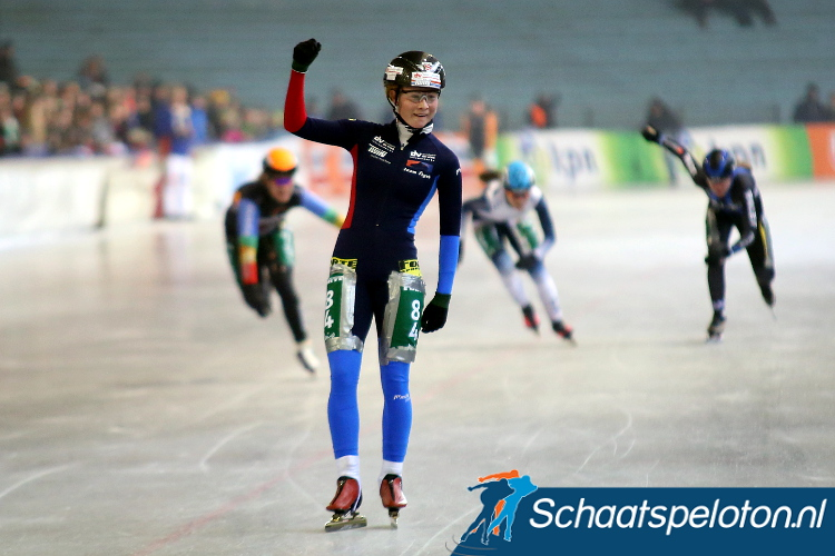 Marijke Groenewoud domineerde afgelopen seizoen de Noord-Oost Competitie, komende winter maakt zij de stap naar het landelijke peloton.