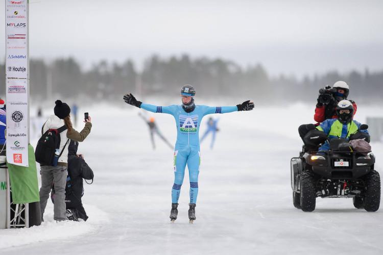 Simon Schouten won afgelopen seizoen in Luleå, komend seizoen rijdt het peloton daar drie keer.