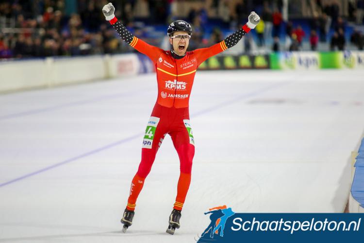 Mats Stoltenborg won eerder dit seizoen ook de KPN Marathon Cup in Heerenveen.