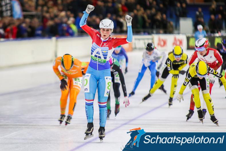 Irene Schouten won vorig seizoen voor de zevende keer op rij de schaatsmarathon in Heerenveen.