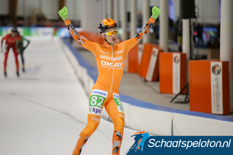 Sjoerd den Hertog (Okay Fashion & Jeans/Interfarms) finishte als derde maar kon juichen als eindwinnaar van de KPN Marathon Cup.