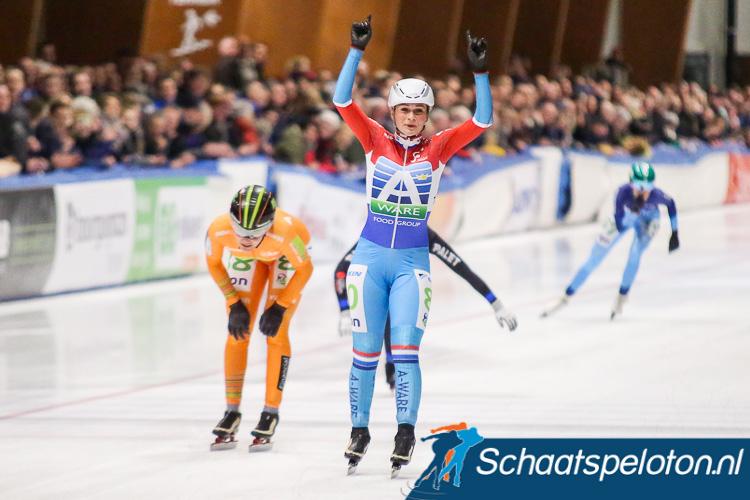 Irene Schouten wint de finalewedstrijd, Manon Kamminga wordt tweede en pakt de eindwinst in de KPN Marathon Cup.