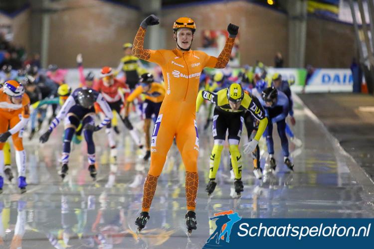 Ruud Slagter is leider in de KPN Marathon Cup bij de herstart van de competitie morgen in Alkmaar.