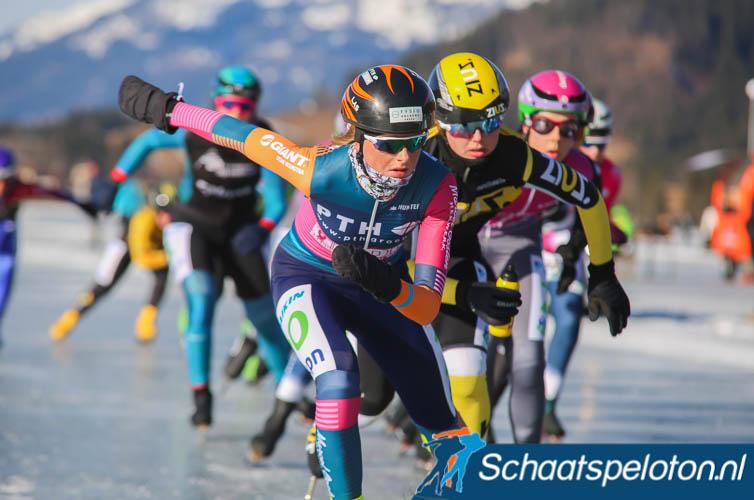 Aggie Walsma werd in de kleuren van PTH / BDM vorig seizoen nog 3e tijdens de Aart Koopmans Memorial op de Weissensee.