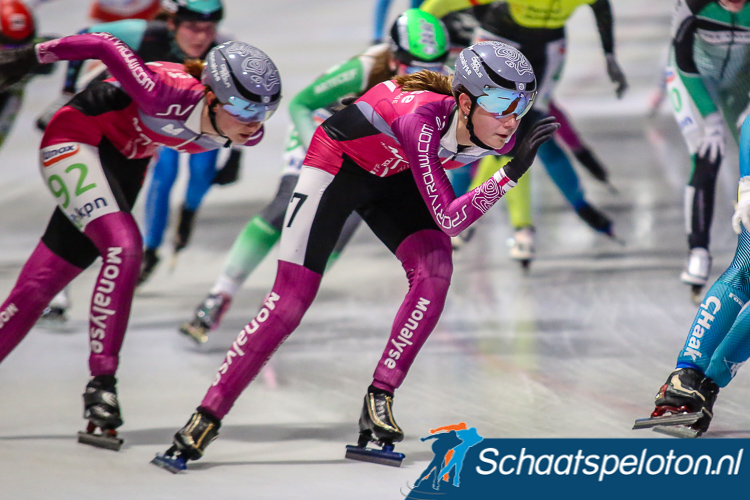 Anne Leltz finishte in Breda de negende KPN Marathon Cup en plaatste zich zo als laatste rijdster voor het NK.