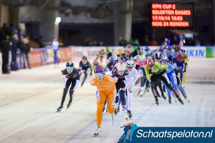 Het damesbeloftenpeloton reed dit seizoen al twee wedstrijden in de KPN Marathon Cup. Arianna Pruisscher leidt het klassement.