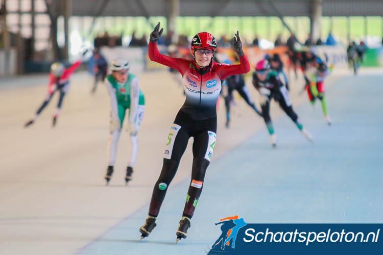 Bente Kerkhoff is de nieuwe Nederlands Kampioene bij de Junioren A.