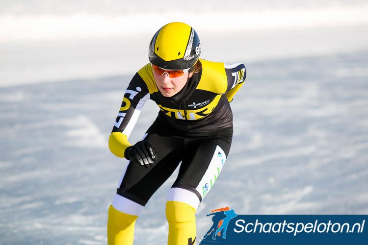 Chantal Hendriks werd dit seizoen vijfde in de Alternatieve Elfstedentocht op de Weissensee
