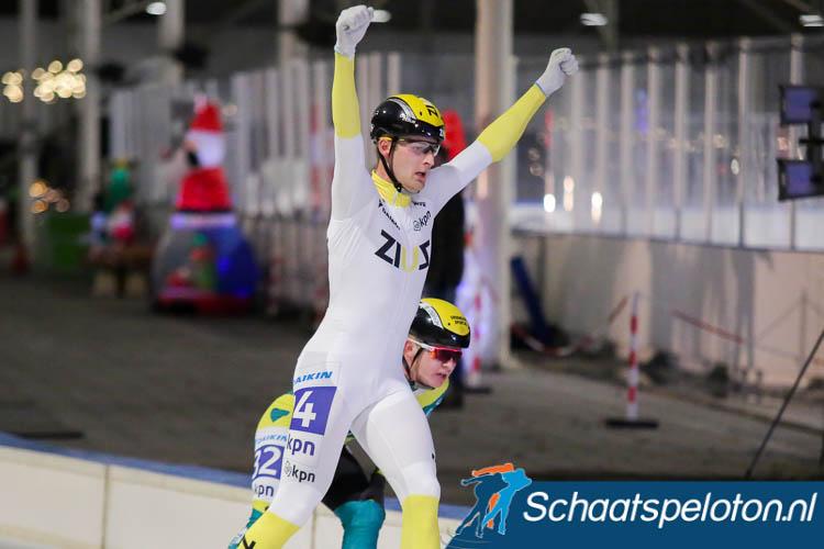 Chiel Smit wint de sprint, Tom den Heijer is geklopt.
