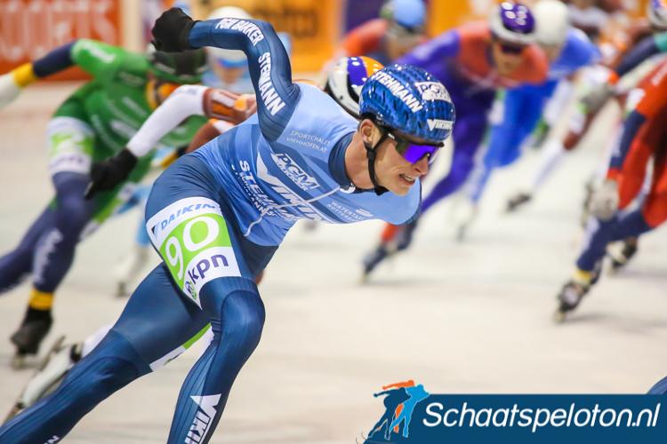 Christiaan Hoekstra werd Zuid-Hollands Kampioen marathonschaatsen.