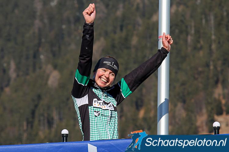 Clarissa van Maaren won vorig seizoen de zilveren medaille tijdens het Open NK op de Weissensee.