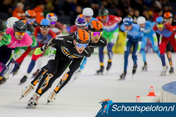 Sjoerd den Hertog vorig seizoen nog in actie in de kleuren van zijn vorige sponsor.