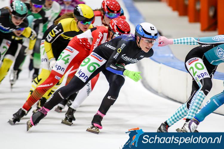 Francesca Lollobrigida won afgelopen seizoen de wereldbeker mass-start. Nu zal zij ook in de halve finales moeten strijden tot op de streep voor de punten.