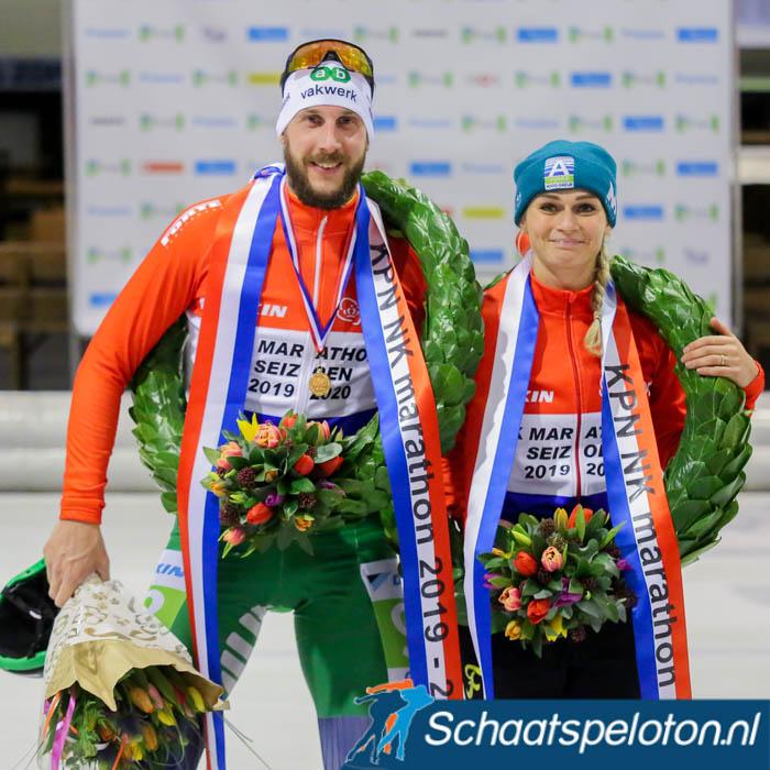 Respectievelijk 6590.000 en 607.000 kijkers zagen Gary Hekman en Irene Schouten Nederlands Kampioen worden.