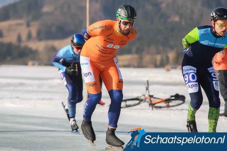 Gary Hekman verloor vandaag zijn oranje leiderspak in de KPN Grand Prix aan ploeggenoot Bart Hoolwerf maar leidt nog wel in de Grote Prijs Weissensee.