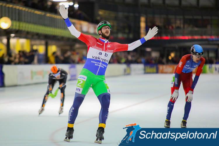 Gary Hekman wint voor het eerst in het rood-wit-blauw.