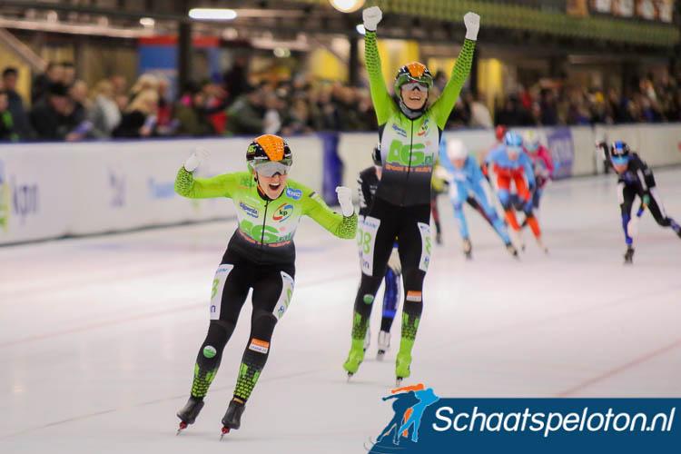 Imke Vormeer en Manon Kamminga weten het allebei Vormeer wint haar eerste schaatsmarathon op het hoogste niveau.