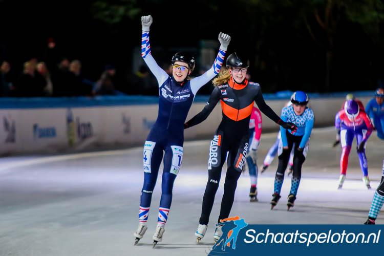 Sanne in 't Hof wint de finalewedstrijd in Amsterdam.