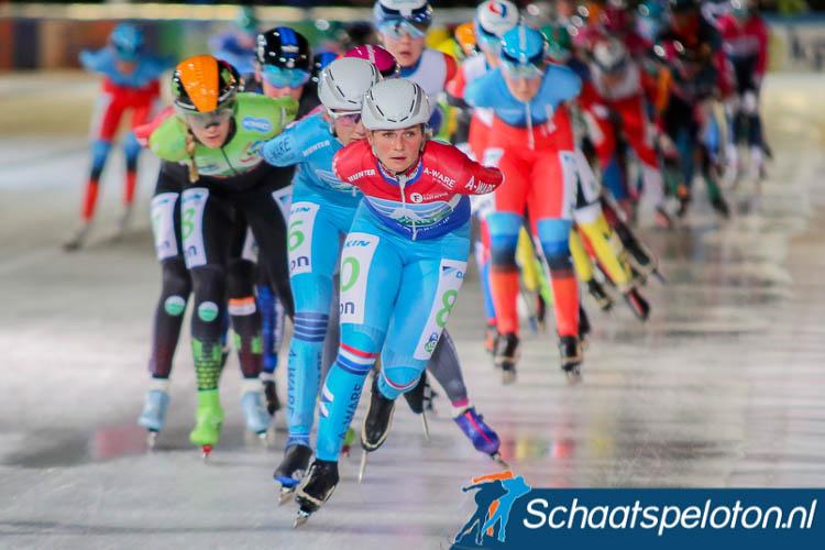 Irene Schouten kan bij een overwinning tijdens het NK marathonschaatsen op gelijke hoogte komen met Atje Keulen-Deelstra.
