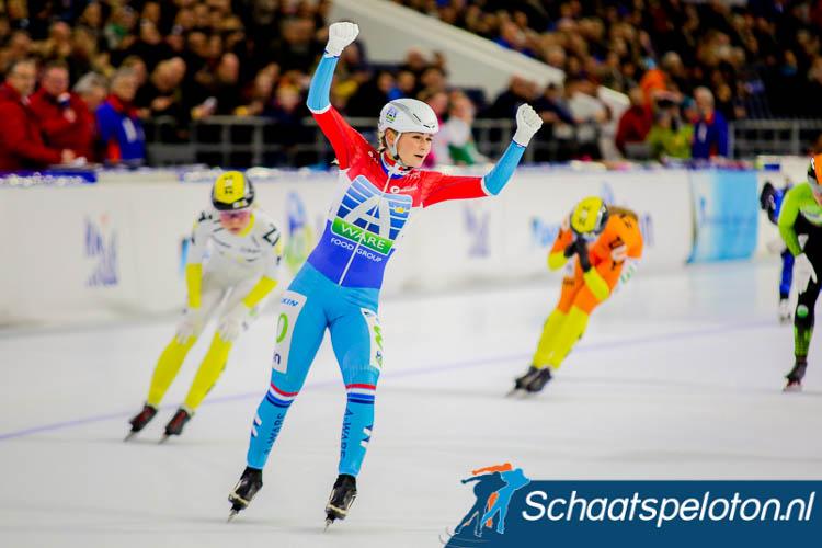 Irene Schouten blijft winnen in Thialf.