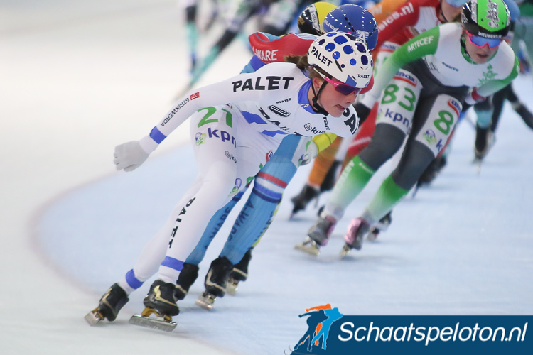 Jade van der Molen is zeker van de overwinning in het eindklassement voor de witte jongerentrui.