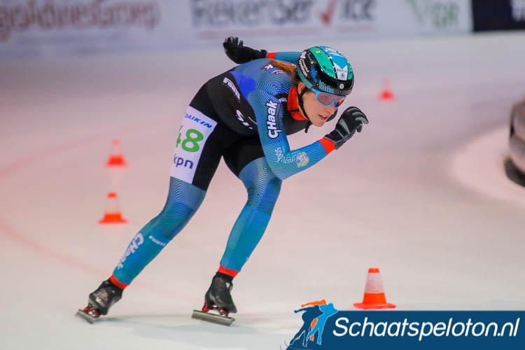 Jessica Merkens won het Kampioenschap van Utrecht bij de dames.