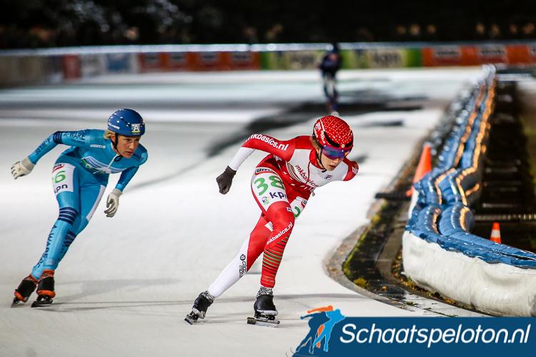 Lisa van der Geest, de winnares van vorige week in Amsterdam, zal vanavond ook waarschijnlijk niet de tweede marathon winnen. Zij zegde gisteren ziek af voor het NK 3 kilometer.