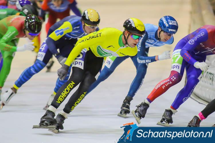 Sportchalet Viehhofen, hier nog als sponsor op de borst van beloftenrijder Leander van der Geest, zal volgend seizoen hoofdsponsor zijn van de topdivisieploeg met o.a. Timo Verkaaik.