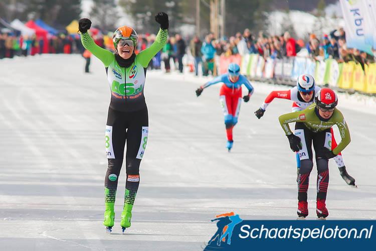 Manon Kamminga wint het Open NK, medevluchtsters Anne Tauber, Merel Bosma en Emme Engbers zijn geklopt.
