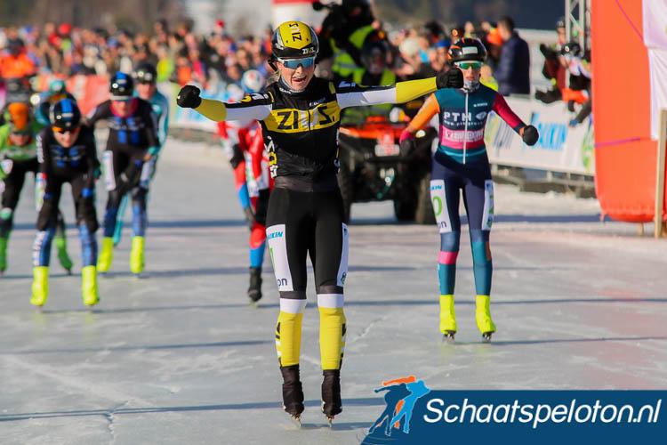 Marijke Groenewoud kwam 23 januari als winnares over de streep tijdens de Aart Koopmans Memorial.