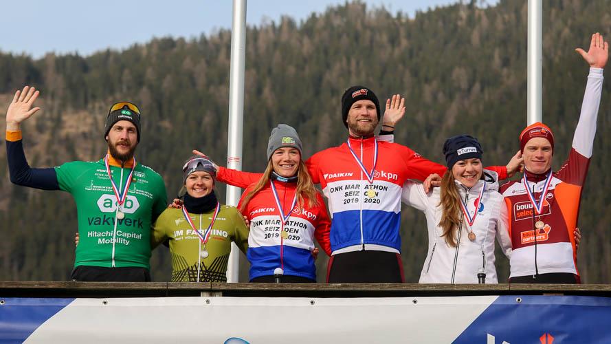 De rijders die vandaag op het podium reden bij het Open NK staan hoog in de strijd om de Grote Prijs Weissensee.