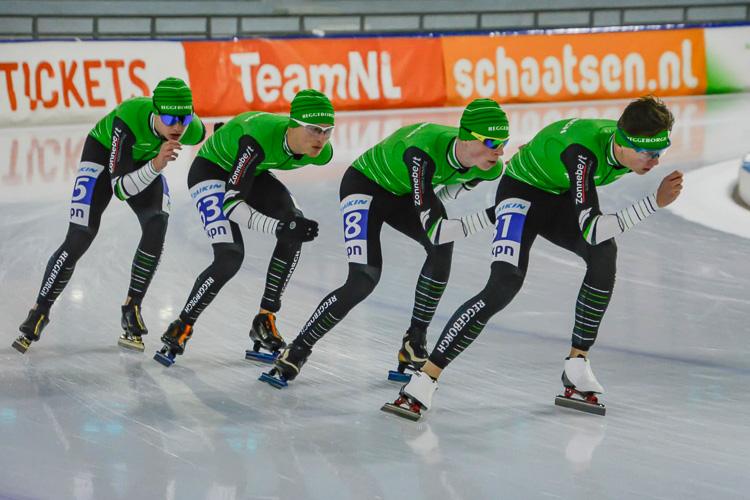 Het nieuwe beloftenteam Reggeborgh in actie op het ijs.