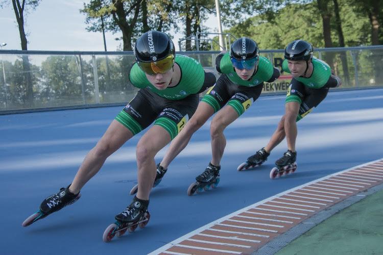 Talent Team Reggeborgh actief op de skeelers. Komende winter keren ze met extra sponsorondersteuning terug in het schaatspeloton.