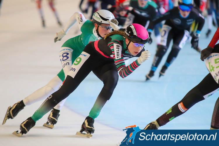 Roos Markus behaalde vorige week tijdens het NK marathonschaatsen voor Junioren A zilver.