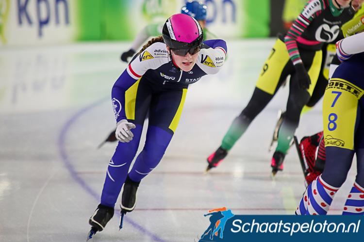 Sanne van Heel is een van de rijdsters van de beloftenploeg waarmee RekenService-VGR volgend seizoen op het ijs komt.