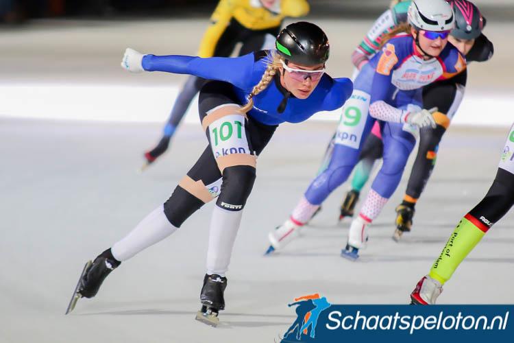 Saskia Alusalu vorig seizoen in actie tijdens de Jaap Eden Bokaal in Amsterdam.