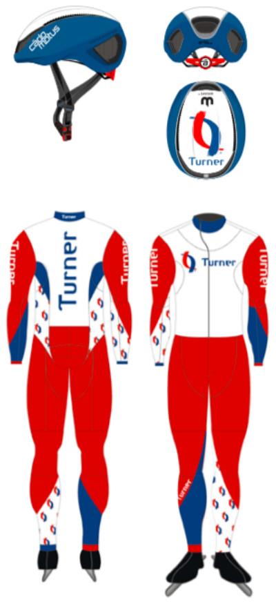 Het nieuwe Team Turner zal komend seizoen in een overwegend rood met blauw-wit pak op het ijs verschijnen.