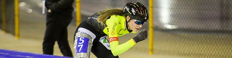 Junioren B-kampioene Bente Kerhoff naar de Schaatsdames van A6.nl