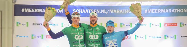 Gary Hekman klopt cupwinnende ploeggenoot Bart Hoolwerf in finale KPN Marathon Cup
