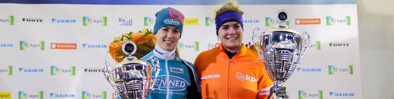 Sanne in 't Hof wint beloften-finale, eindwinst KPN Marathon Cup naar Arianna Pruisscher
