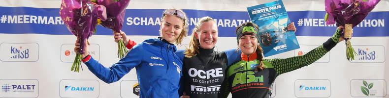 Famke Minnee debuteert met winst bij beloftendames